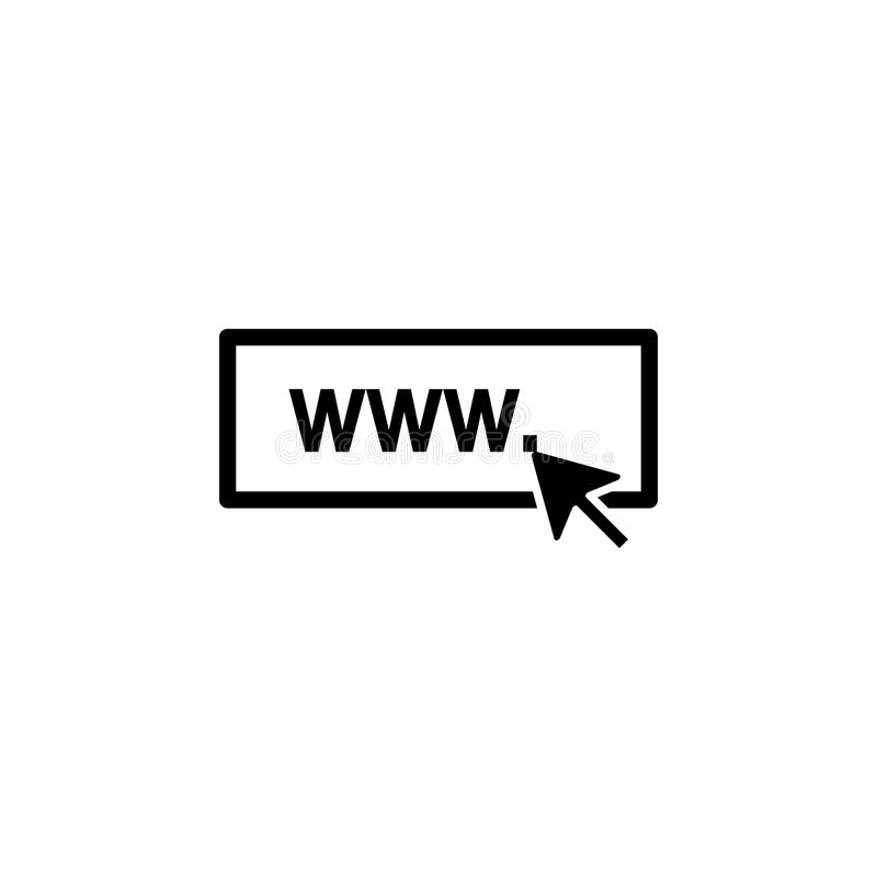 o ícone do Internet Elemento do ícone da Web para apps móveis do conceito e da Web Isolou o ícone do Internet pode ser usado para ilustração royalty free