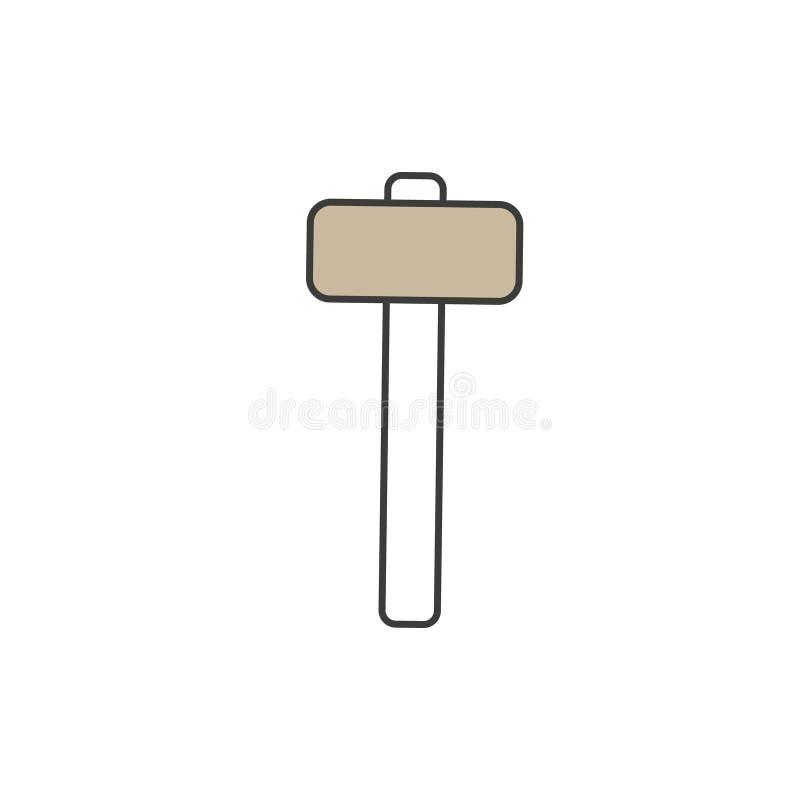 O ícone do ícone do malho Ilustração simples do elemento ilustração royalty free