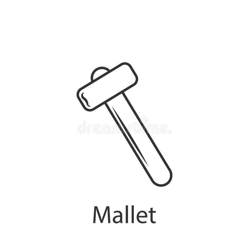 O ícone do ícone do malho Ilustração simples do elemento O projeto do símbolo do ícone do malho do grupo da coleção da construção ilustração stock