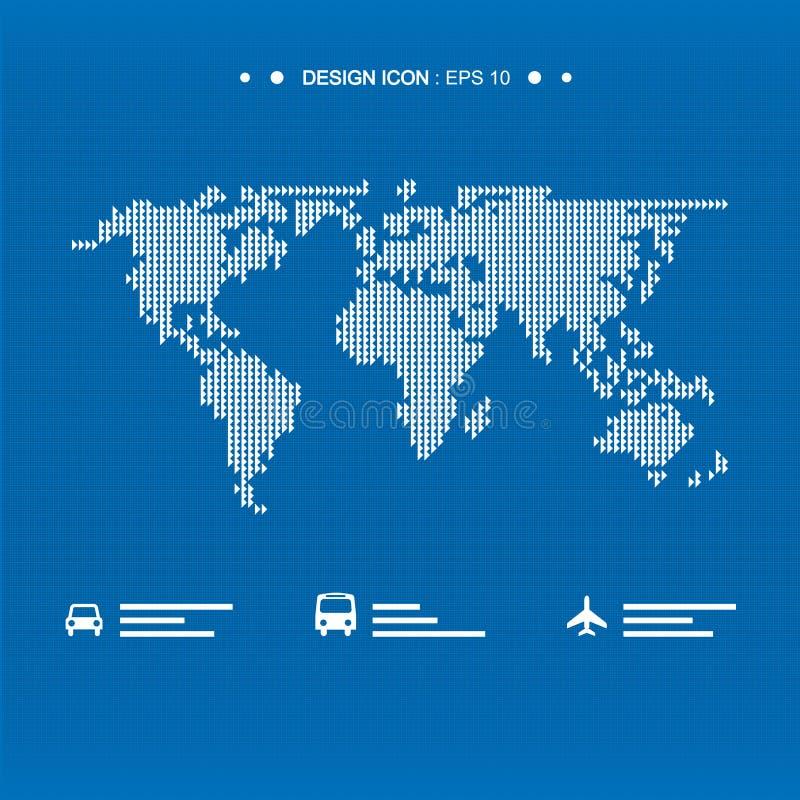 O ícone 6 do mapa do mundo grande para alguns usa-se Vetor eps10 imagens de stock