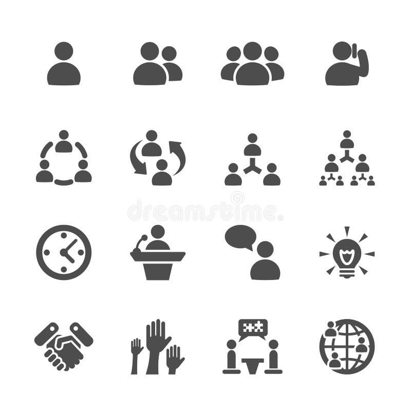 O ícone do negócio e da gestão ajustou 7, vetor eps10 ilustração do vetor