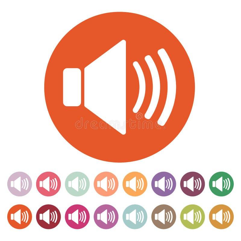 O ícone do orador Símbolo sadio liso ilustração stock