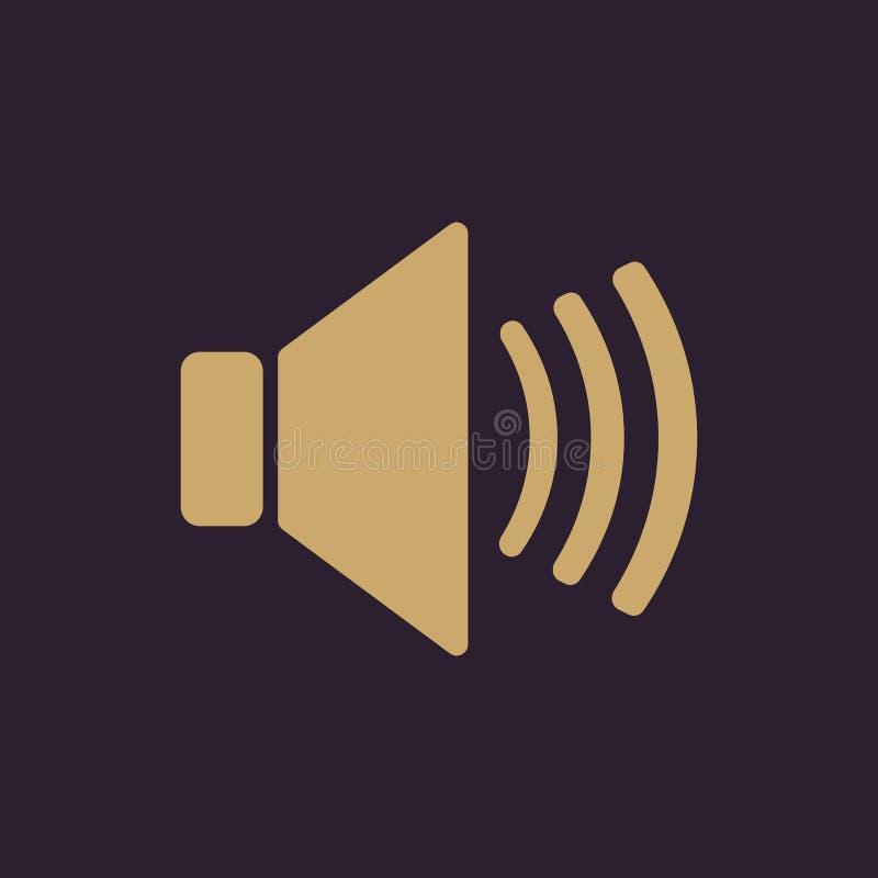O ícone do orador Símbolo sadio liso ilustração do vetor