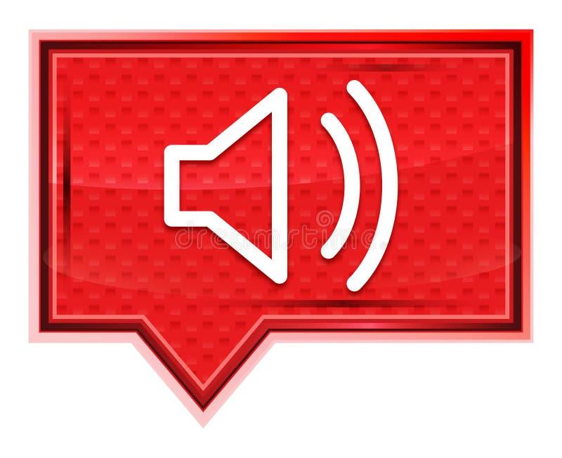 O ícone do orador do volume enevoado aumentou botão cor-de-rosa da bandeira ilustração stock