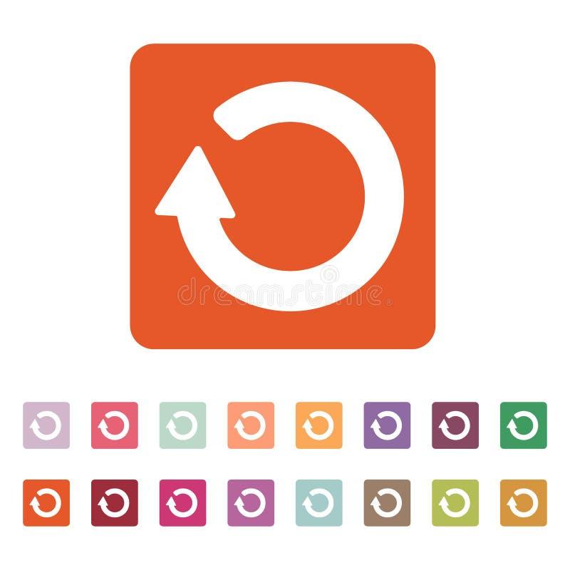 O ícone do refrescamento Símbolo da carga liso ilustração royalty free