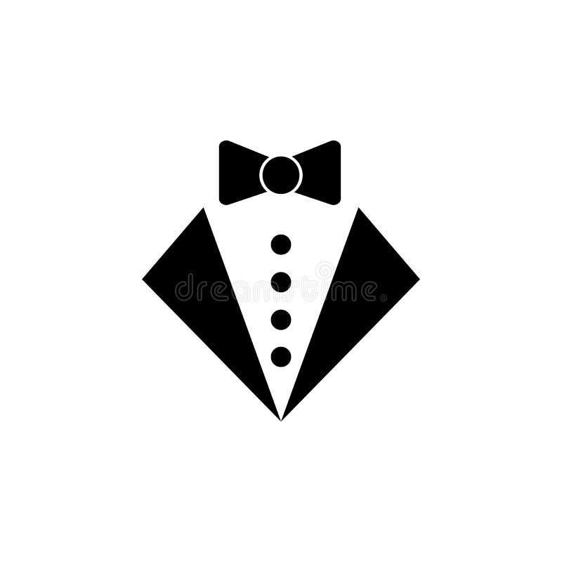 o ícone do smoking Elemento do ícone do partido e do divertimento Ícone superior do projeto gráfico da qualidade Sinais e ícone d ilustração stock