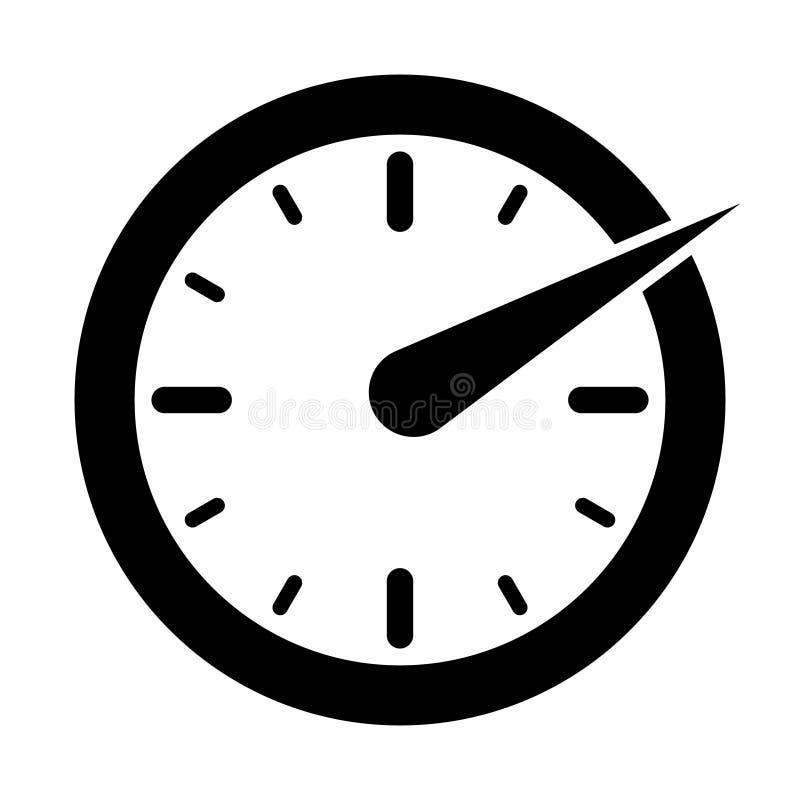 O ícone do tacômetro, do velocímetro e do indicador Logotipo do sinal da velocidade ilustração do vetor