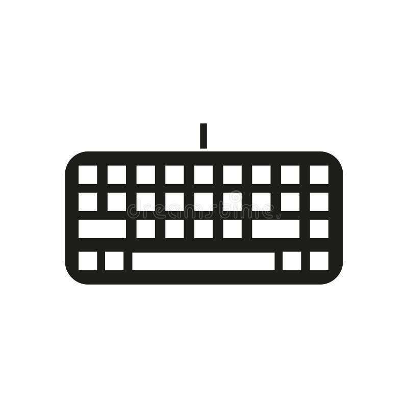 O ícone do teclado Teclado e entrada, datilografando, símbolo de uma comunicação liso ilustração royalty free