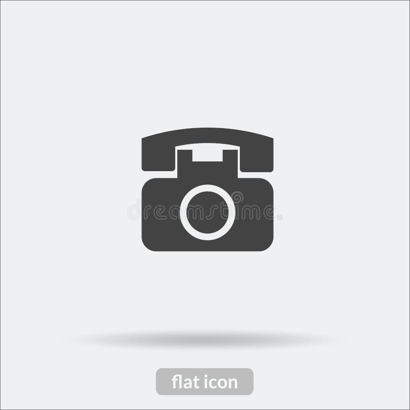 O ícone do telefone, vetor é o tipo EPS10 ilustração royalty free