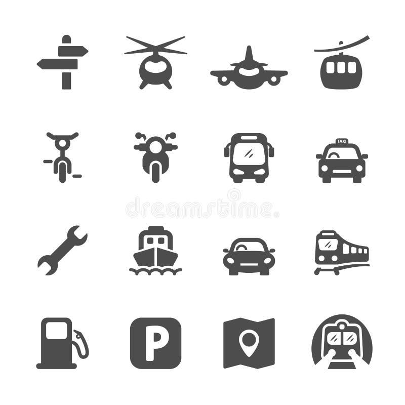 O ícone do transporte ajustou 2, vetor eps 10 ilustração do vetor