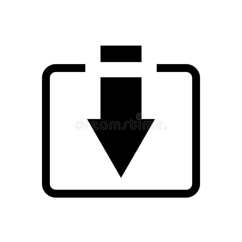 O ícone do vetor da transferência, instala o símbolo Ilustração lisa moderna, simples do vetor para a site ou app móvel ilustração do vetor