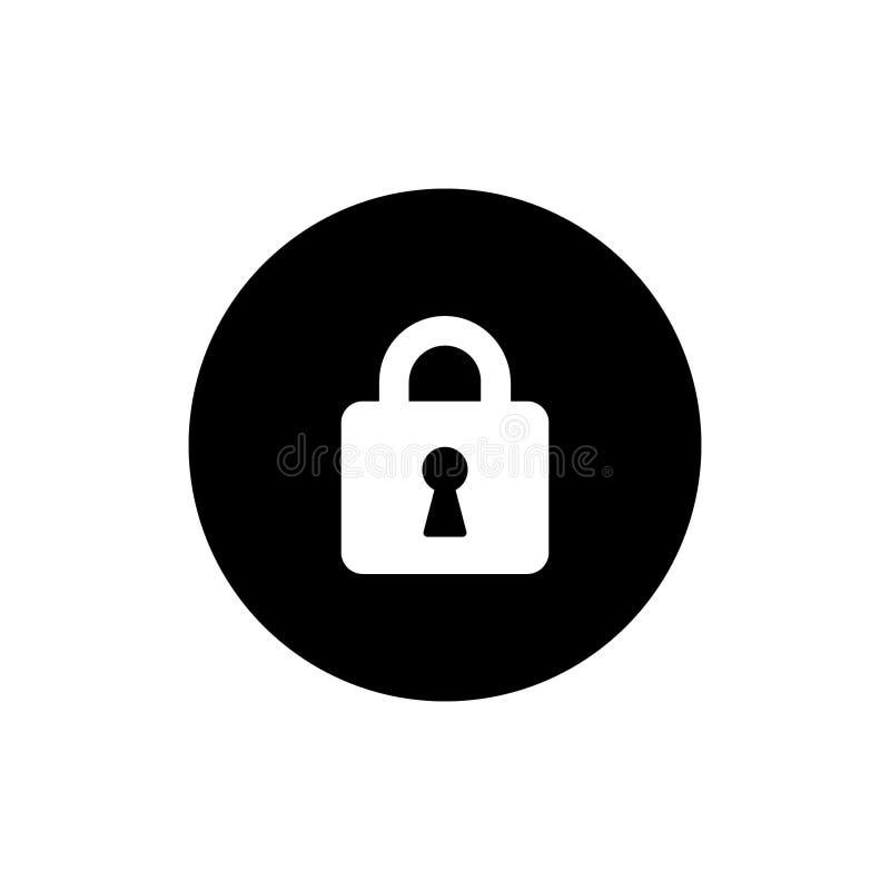 O ícone do vetor do fechamento, destrava o símbolo Projeto simples, liso, estilo contínuo dos ícones para o negócio, meios sociai ilustração royalty free