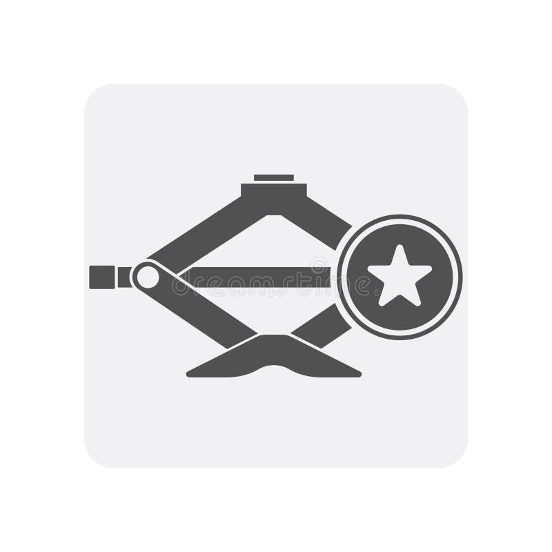 O ícone dos diagnósticos do carro com scissor o elemento do jaque ilustração royalty free