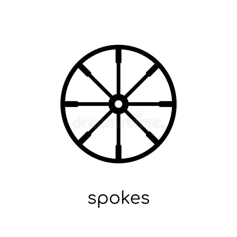 O ícone dos raios de costura a coleção ilustração stock