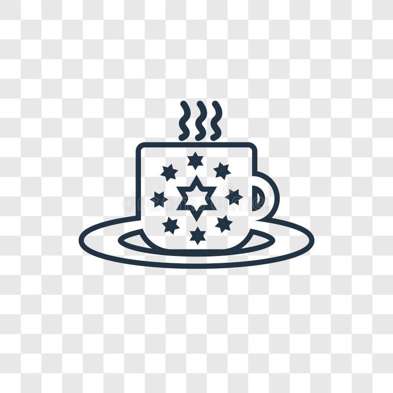 O ícone linear do vetor do conceito da peúga do Natal isolado sobre transparen ilustração do vetor