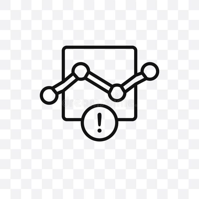 O ícone linear do vetor do erro da conexão isolado no fundo transparente, conceito da transparência do erro da conexão pode ser u ilustração stock