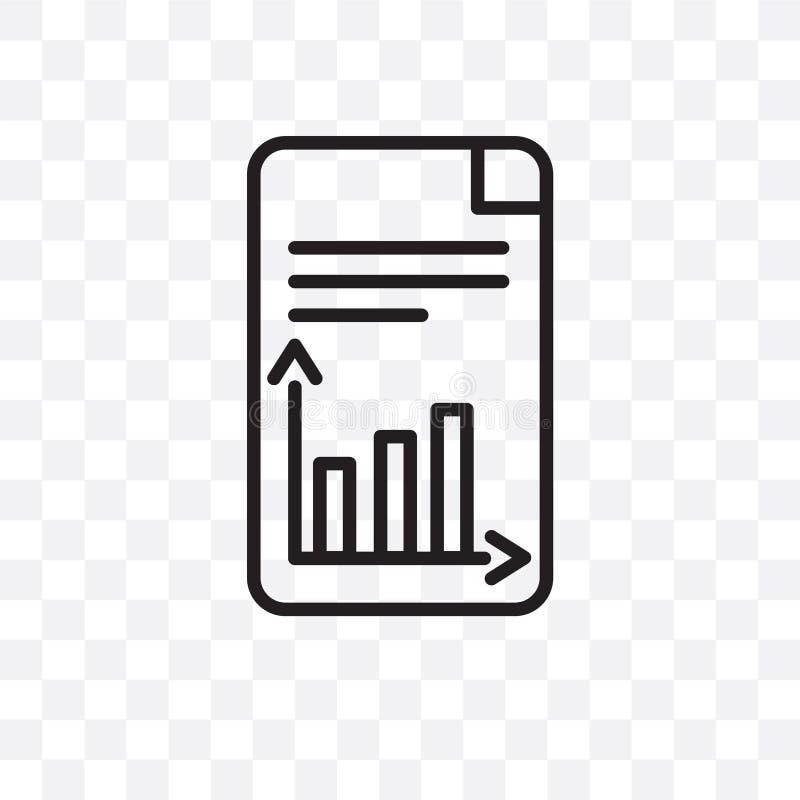 O ícone linear do vetor do plano de negócios isolado no fundo transparente, conceito da transparência do plano de negócios pode s ilustração royalty free