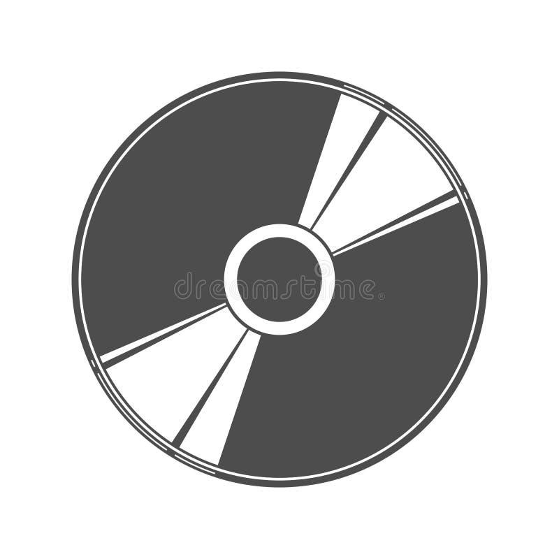 O ícone liso simples do disco para o projeto e a decoração ilustração royalty free