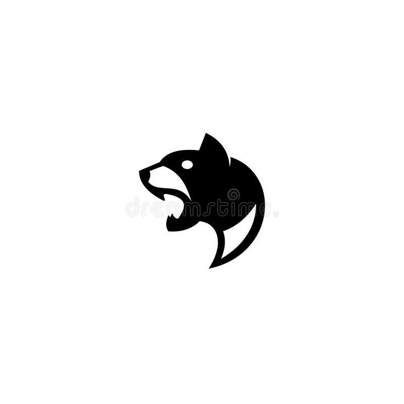 O ícone principal do logotipo do texugo projeta linha ouro isolado moderno liso simples da ilustração do vetor a mono do estilo ilustração royalty free