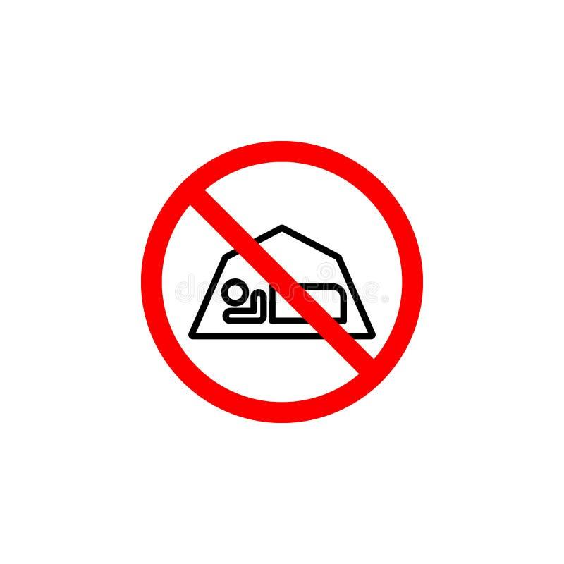 O ícone proibido do sono pode ser usado para a Web, logotipo, app móvel, UI UX ilustração royalty free