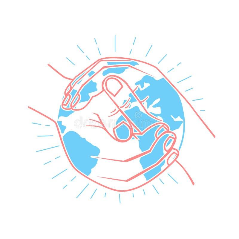 O ícone protege a terra ilustração royalty free