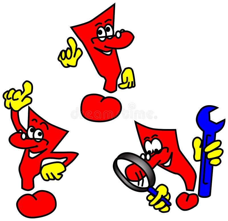 O ícone vermelho da idéia equipa ilustração do vetor