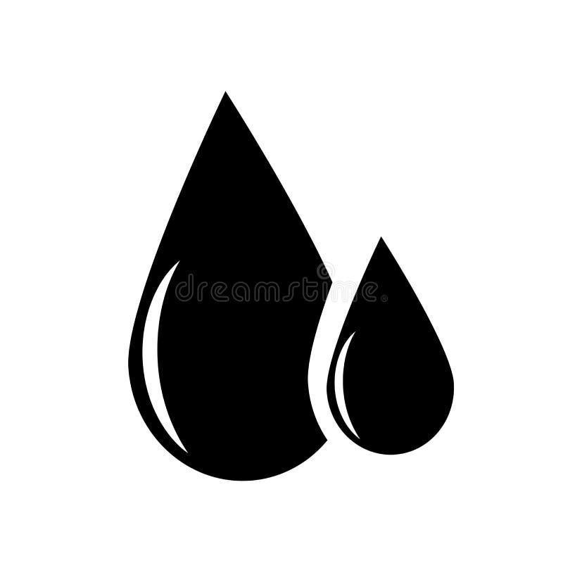 O óleo deixa cair o sinal do vetor do ícone e o símbolo isolado no fundo branco, óleo deixa cair o conceito do logotipo ilustração do vetor