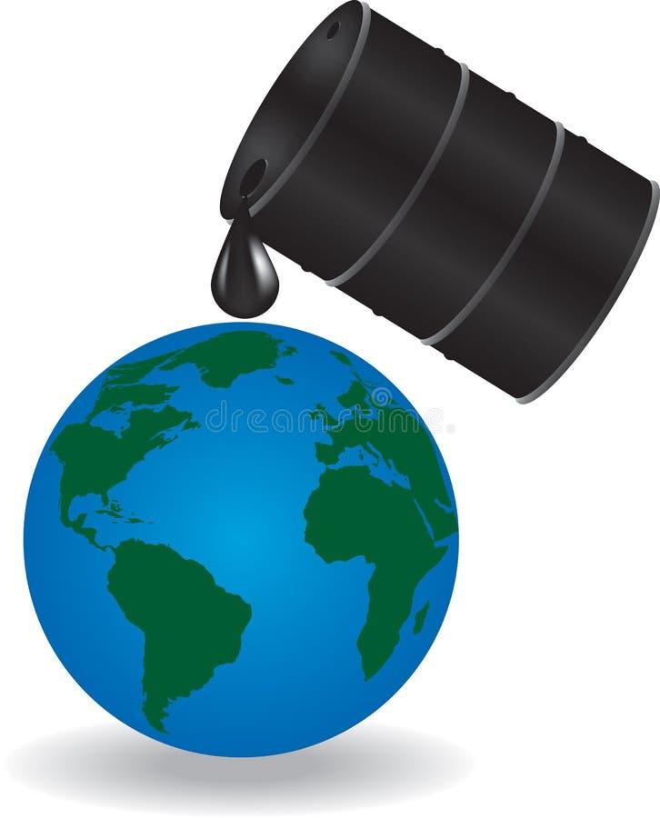 O óleo está gotejando na terra ilustração royalty free