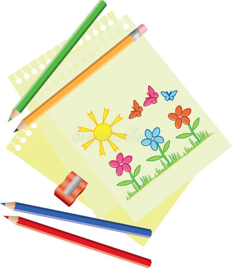 Download Ołówki ilustracja wektor. Ilustracja złożonej z wyposażenie - 13329778