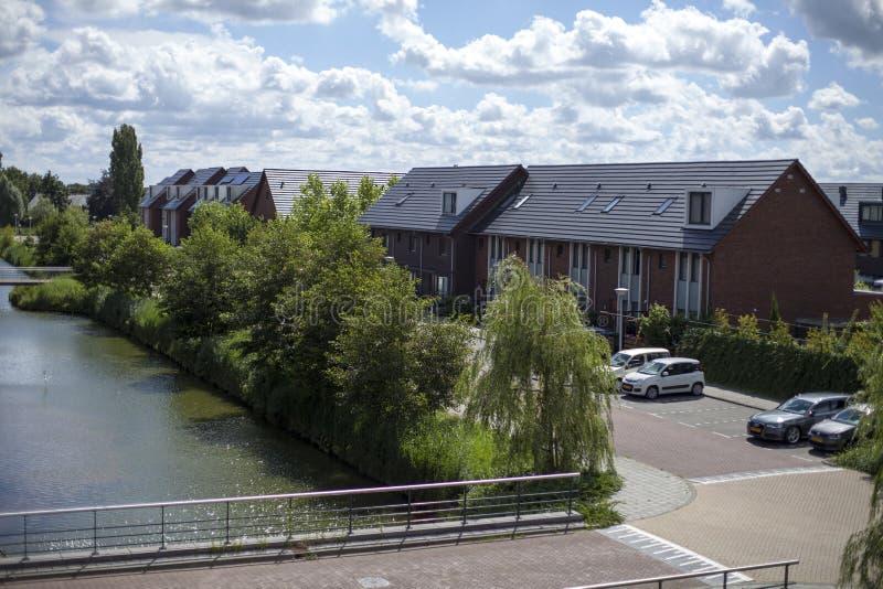O último distrito de Amstelveen foto de stock