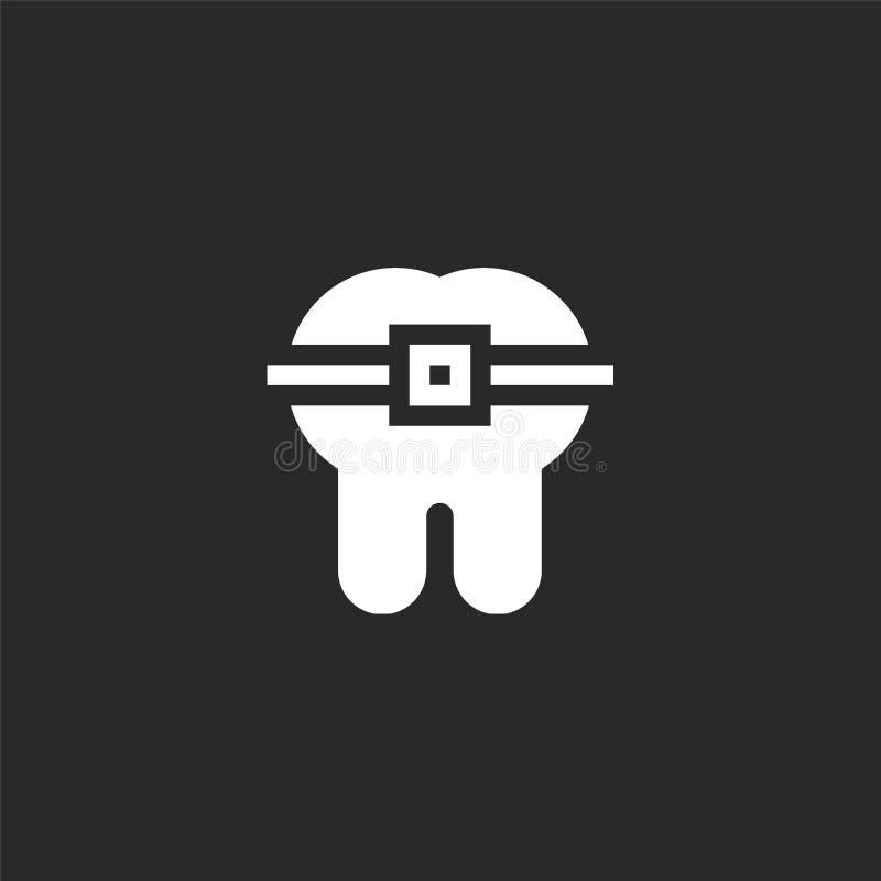 o Γεμισμένο εικονίδιο δοντιών για το σχέδιο ιστοχώρου και κινητός, app ανάπτυξη εικονίδιο δοντιών από τη γεμισμένη οδοντική συλλο ελεύθερη απεικόνιση δικαιώματος