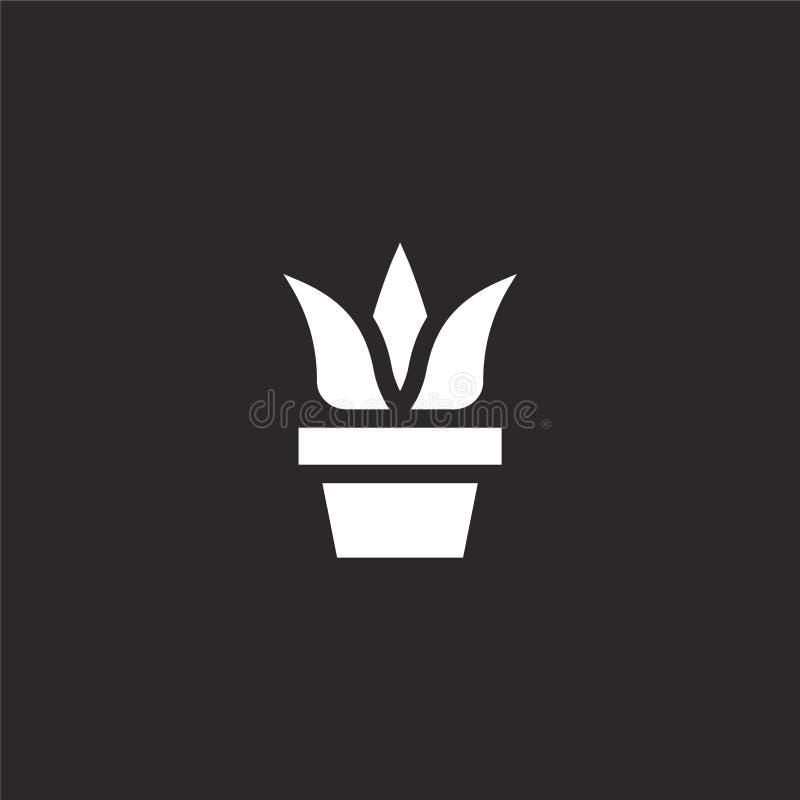 o Γεμισμένο εικονίδιο εγκαταστάσεων για το σχέδιο ιστοχώρου και κινητός, app ανάπτυξη εικονίδιο εγκαταστάσεων από τα γεμισμένα χό διανυσματική απεικόνιση