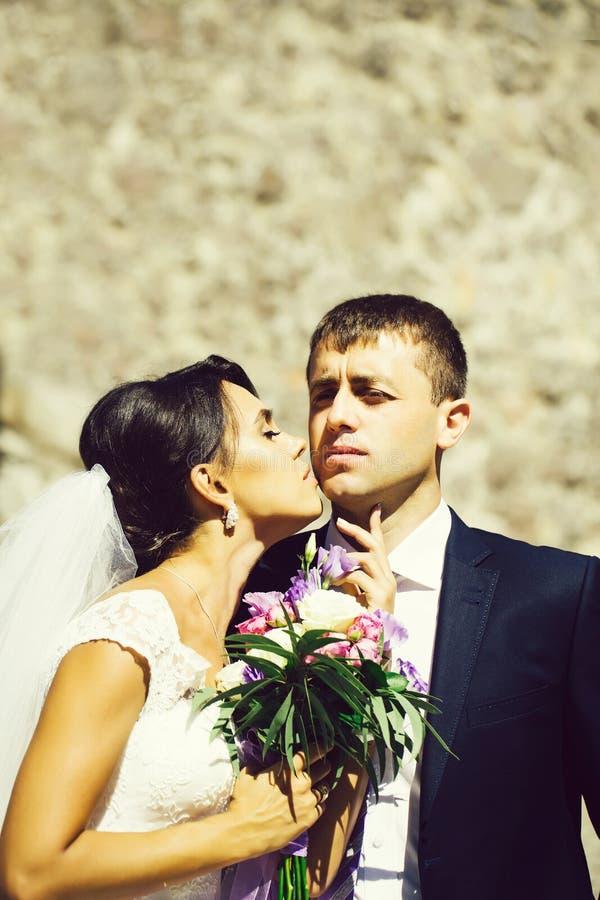 Ακριβώς παντρεμένο ζευγάρι στοκ φωτογραφίες με δικαίωμα ελεύθερης χρήσης
