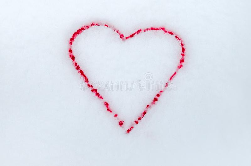 o Ρομαντική αγάπη βαλεντίνου, αιώνια αγάπη r Δύο αιματηρές καρδιές στοκ εικόνες με δικαίωμα ελεύθερης χρήσης
