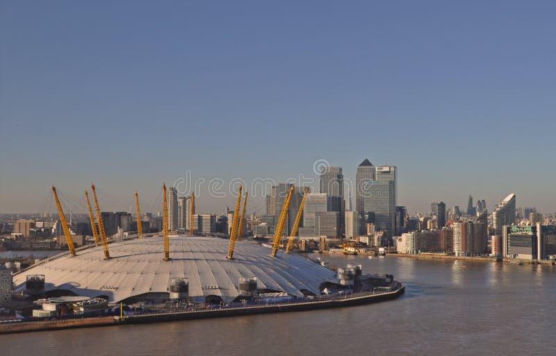 O2竞技场在伦敦 库存照片