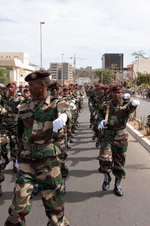 O 3ö aniversário da independência de Cabo Verde imagem de stock royalty free