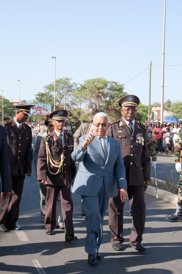 O 3ö aniversário da independência de Cabo Verde fotografia de stock royalty free