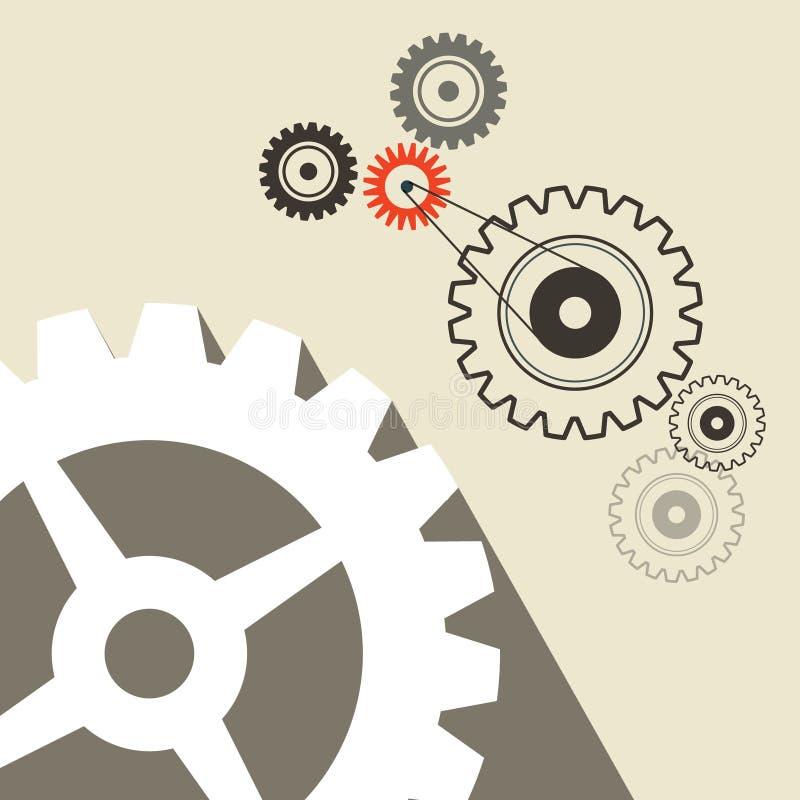Download O ilustracja wektor. Ilustracja złożonej z cogs, przemysł - 57654727