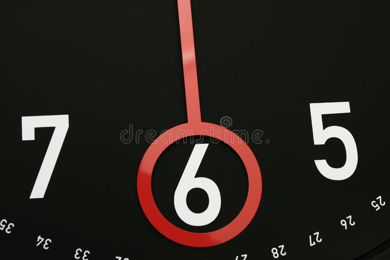 o 6 zegar czasu obrazy stock