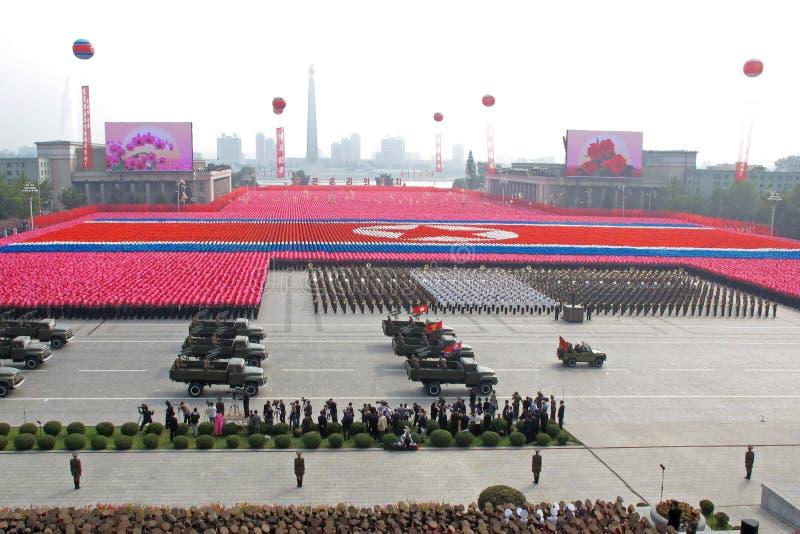 O 65th aniversário do Partido Trabalhista norte de Coreia foto de stock