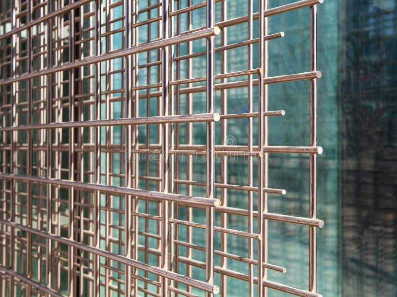 O aço da rede de arame para reforçar concreto, fecha-se acima fotografia de stock