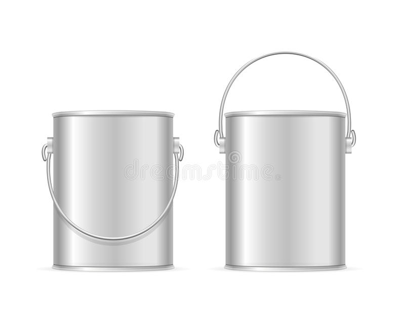 O aço pode Bucket o grupo Vetor ilustração do vetor