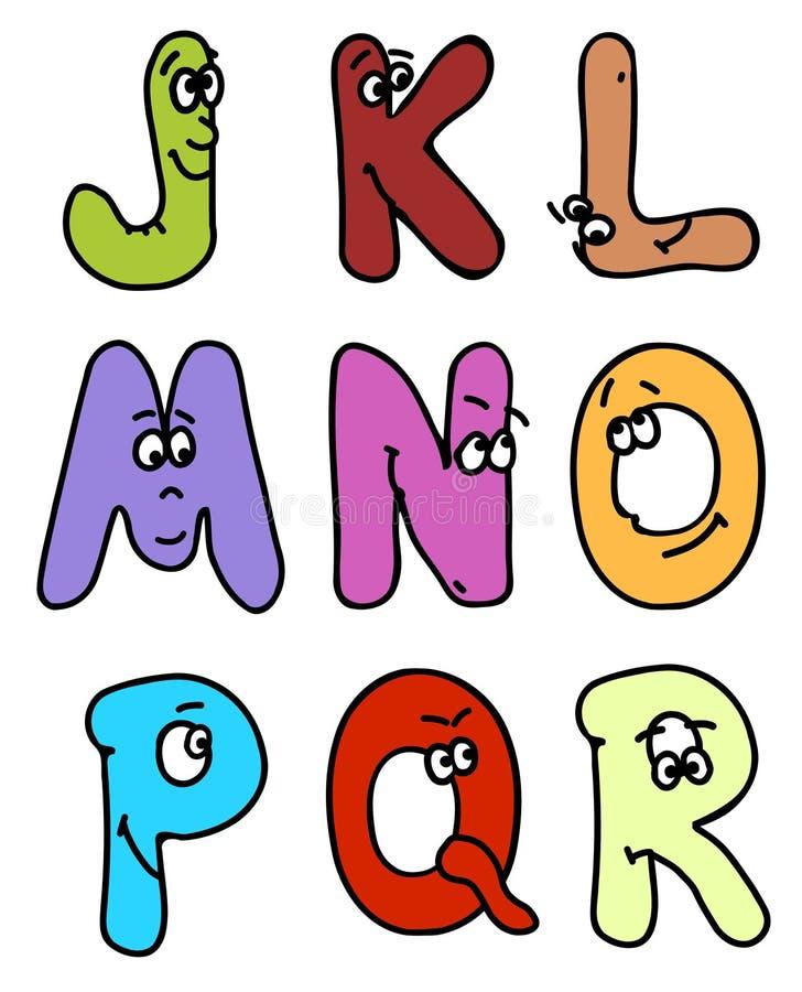 O ABC dos desenhos animados ajustou o vetor 2. ilustração do vetor