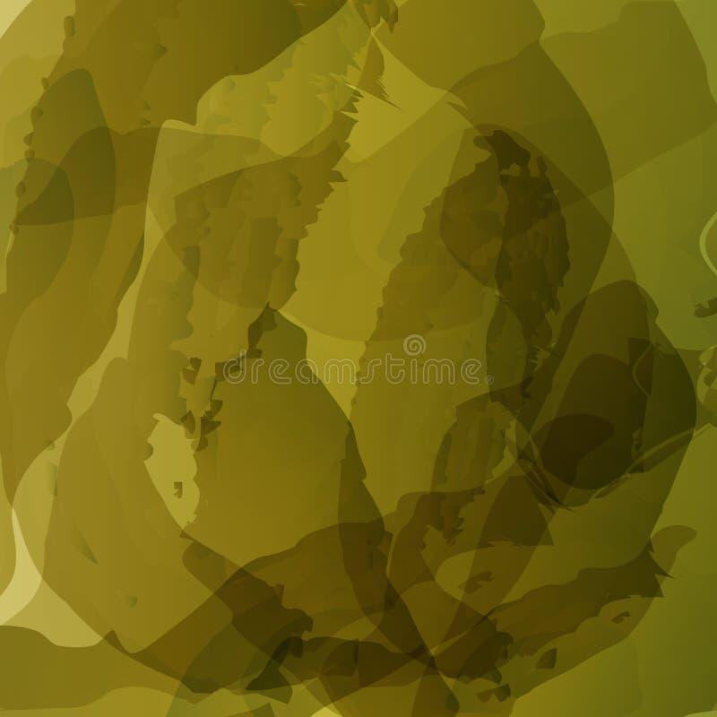 O abtract do vetor escova cursos, forma do verde do grunge, molde colorido do fundo ilustração stock