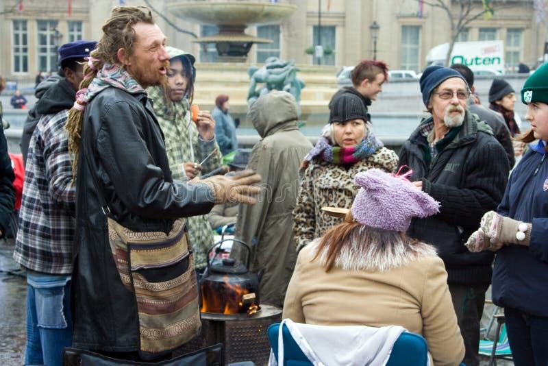 O acampamento para activistas da ação do clima foto de stock