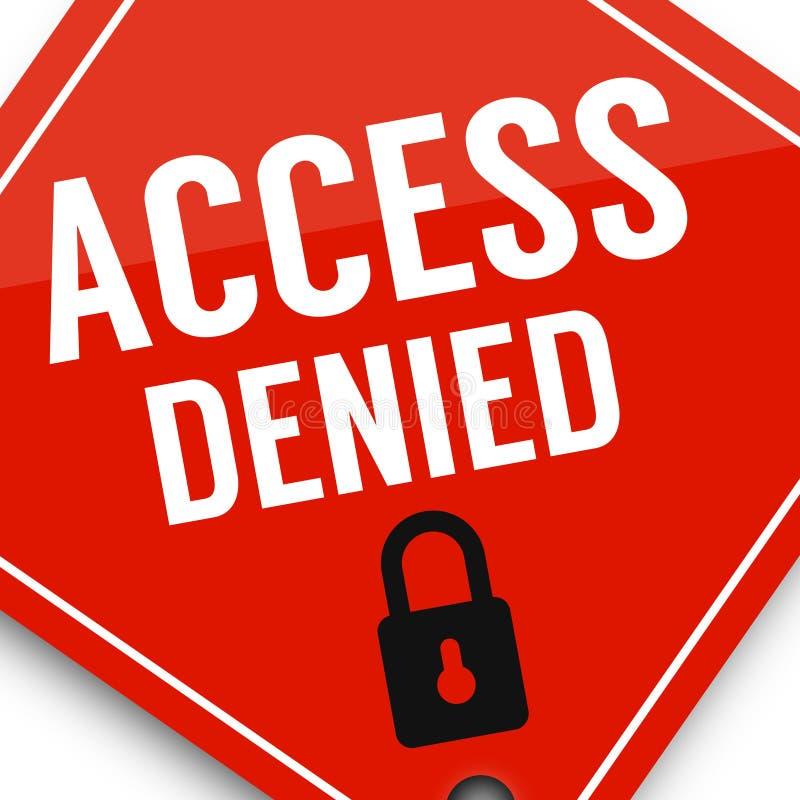 O acesso negou a proteção de dados, cartaz da imagem do negócio, qualidade super ilustração royalty free