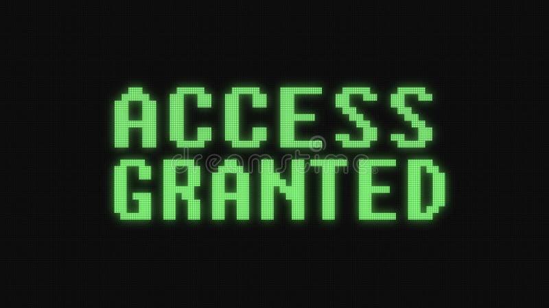 O acesso verde concedeu o texto no estoque alegre colorido do vintage do techology novo preto digital da qualidade da ilustra??o  ilustração royalty free