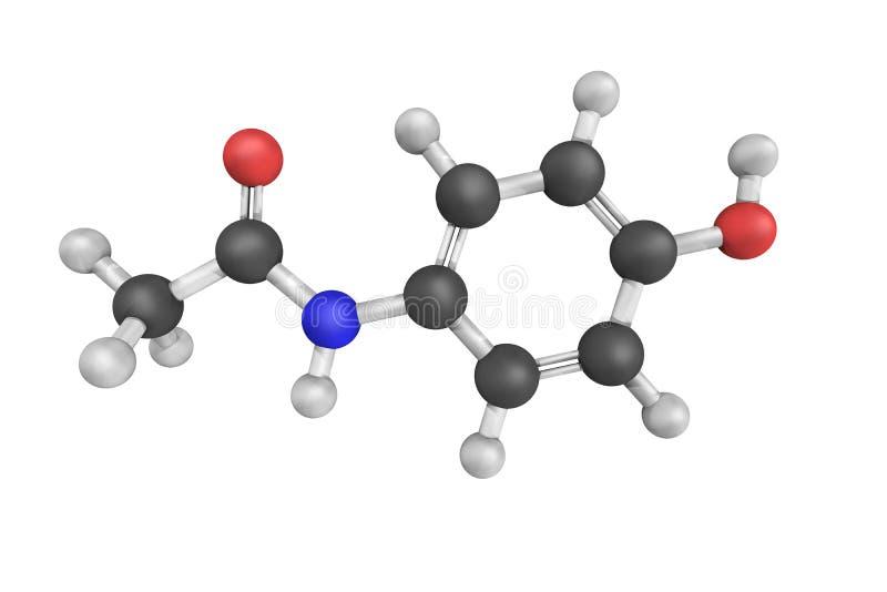 O Acetaminophen, igualmente conhecido como o paracetamol, uma medicamentação usou-se a t imagens de stock