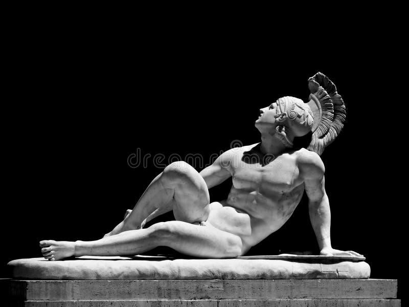 O Achilles ferido fotografia de stock
