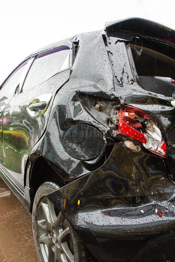 O acidente de viação do acidente, acidente de viação acontece frequentemente facilmente se o neglige foto de stock